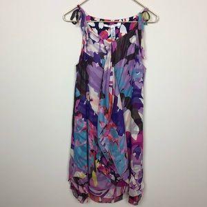 Diane Von Furstenberg Multicolor Floral Silk Dress